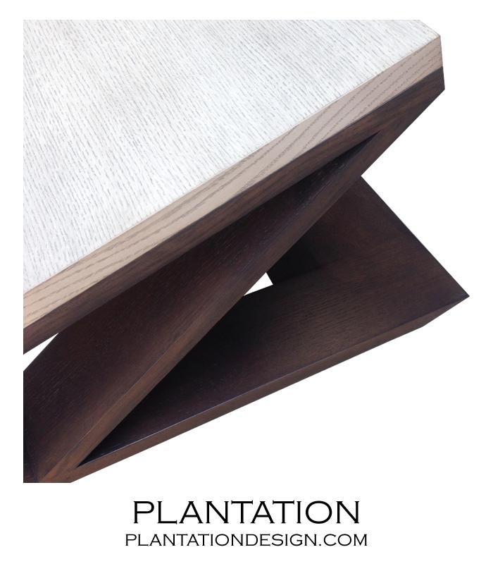Xavier Rectangular Coffee Table, Two-tone