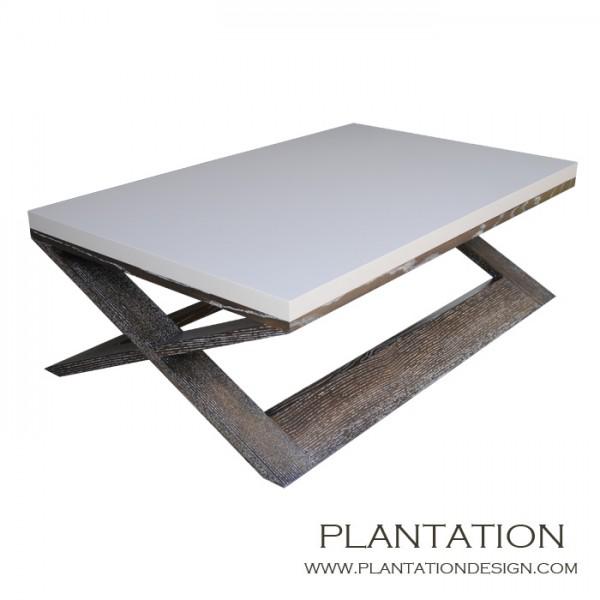 Xavier Square Coffee Table, Two-tone