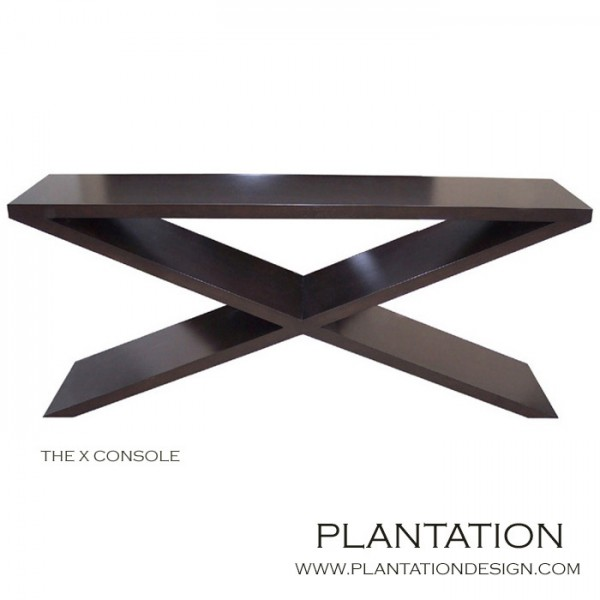"""Xander """"X"""" Console Table, Stained"""