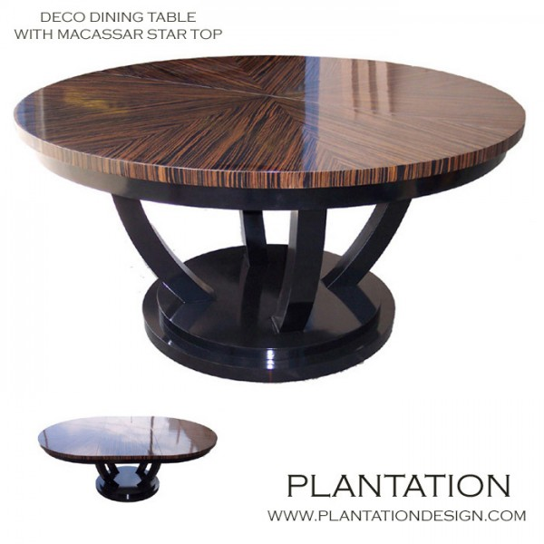 Deco Dining Table, Stained