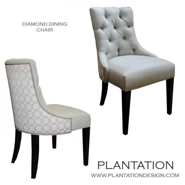 Sia Dining Chair, Diamond-Tufted