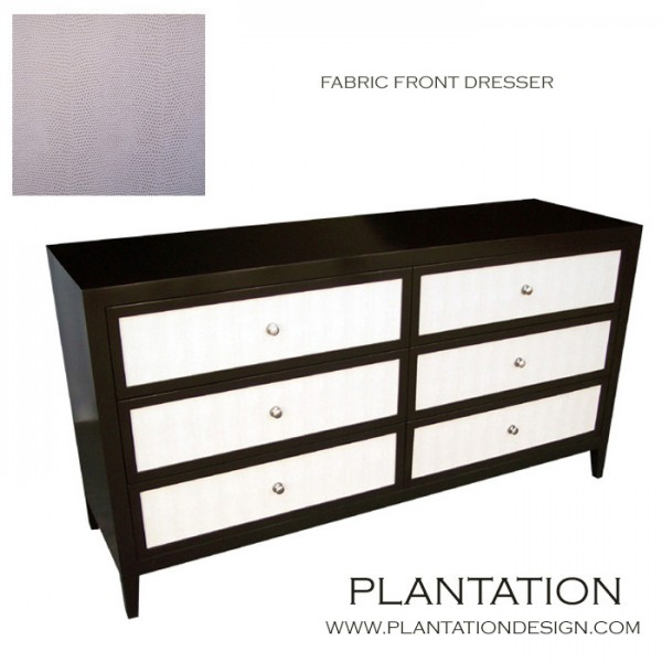 Frank Dresser, Stained w/Fabric Fronts