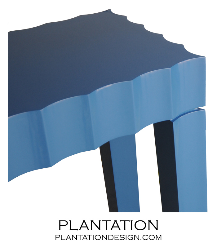 Scalloped Console | Painted