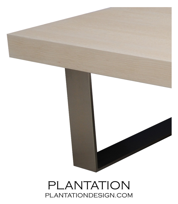 Urban Coffee Table w/Metal Legs, Stained