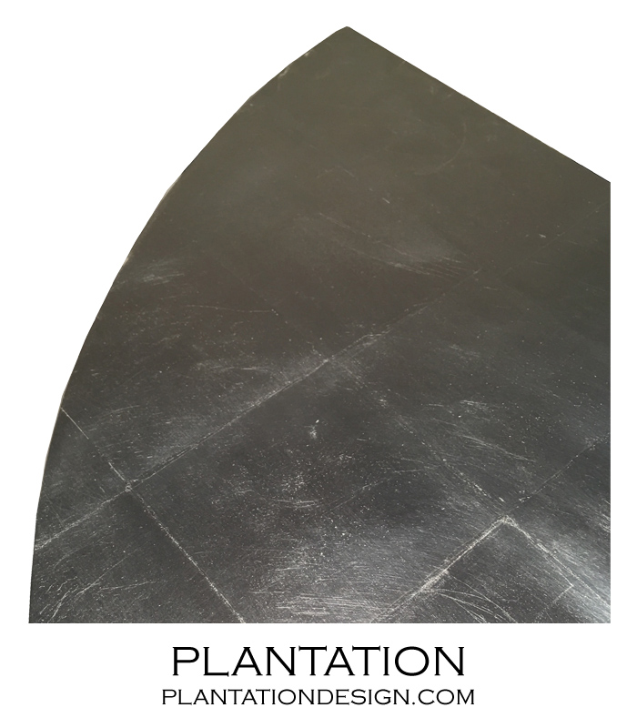 Demilune Cabinet | Silver Leaf