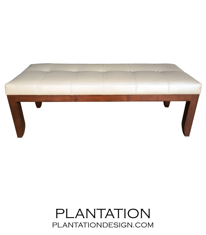 Carson Tufted Bench