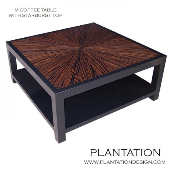 M Square Coffee Table,  Macassar