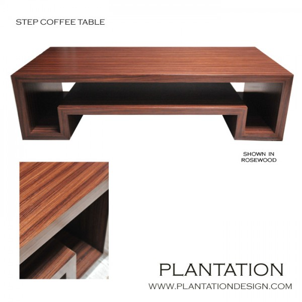 Step Coffee Table, Stained