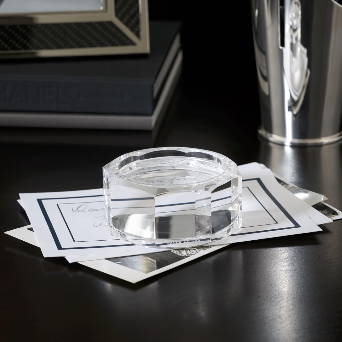 Brookings Crystal Paperweight