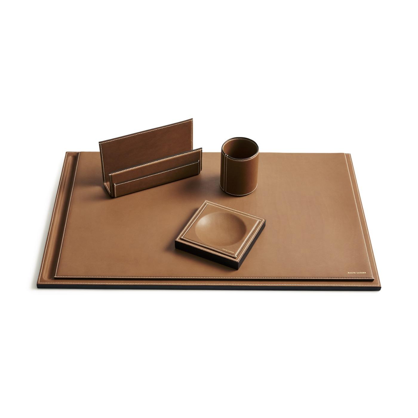 Brennan Leather Letter Rack | Saddle