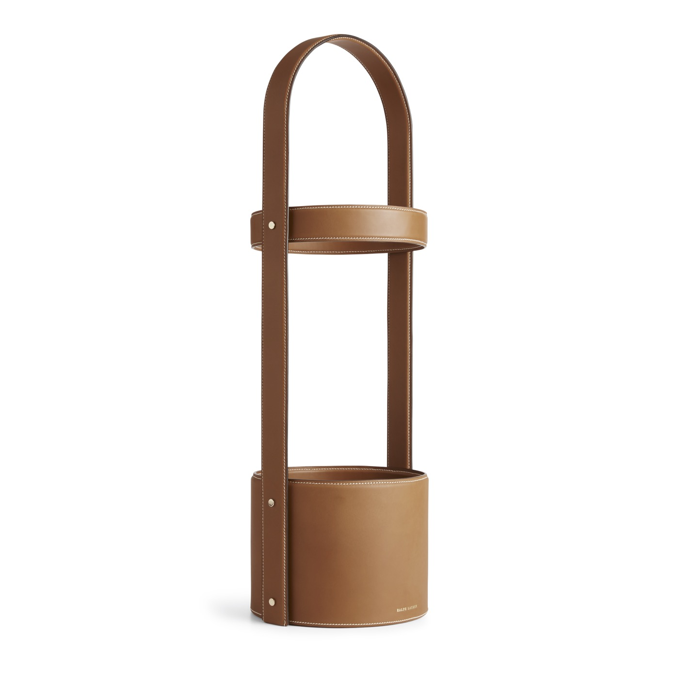 Brennan Leather Umbrella Stand | Saddle