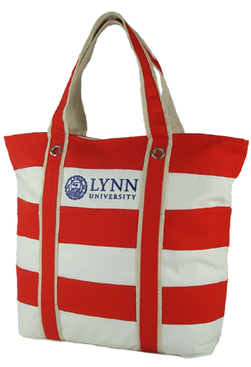 Red Striped Custom Tote Bag