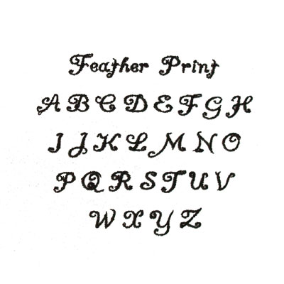 Feather Print Custom Font