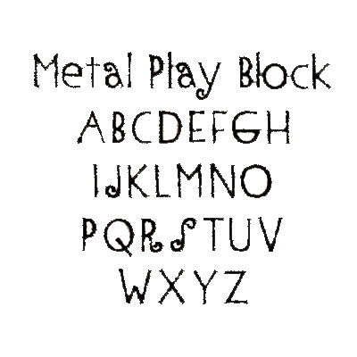 Metal Play Font - Monnogramming