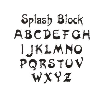 Monogramming Font - Splash Font