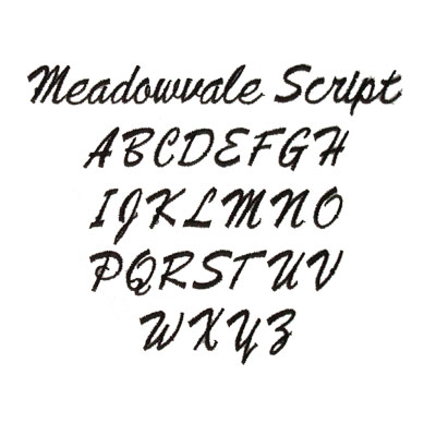 Meadowvale Script Font (Embroidery & Monogramming)