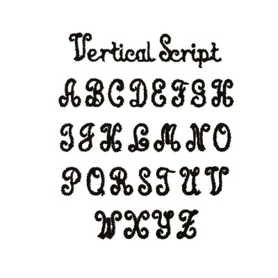 Vertical Script Monogram Font
