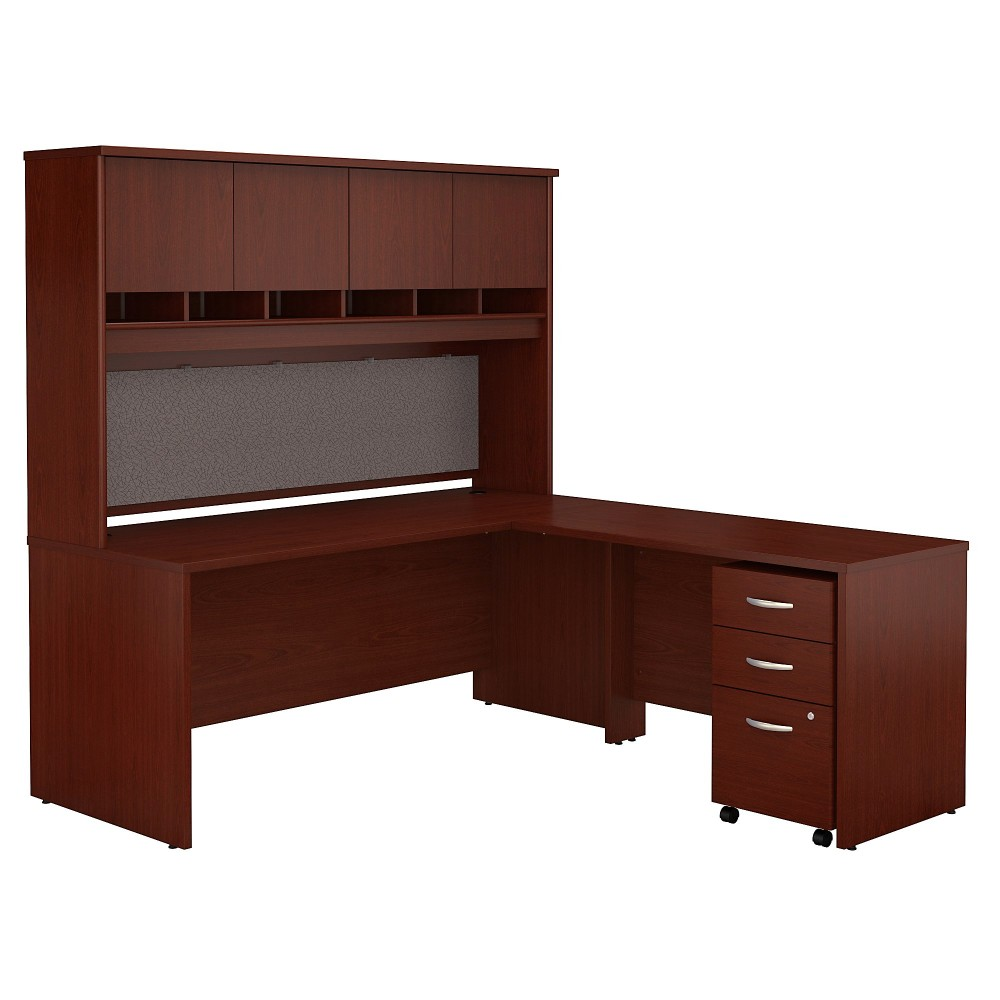 Series C 72w L Shaped Desk W Hutch Mobile File Cabinet In Gany Bush Furniture Src0018masu