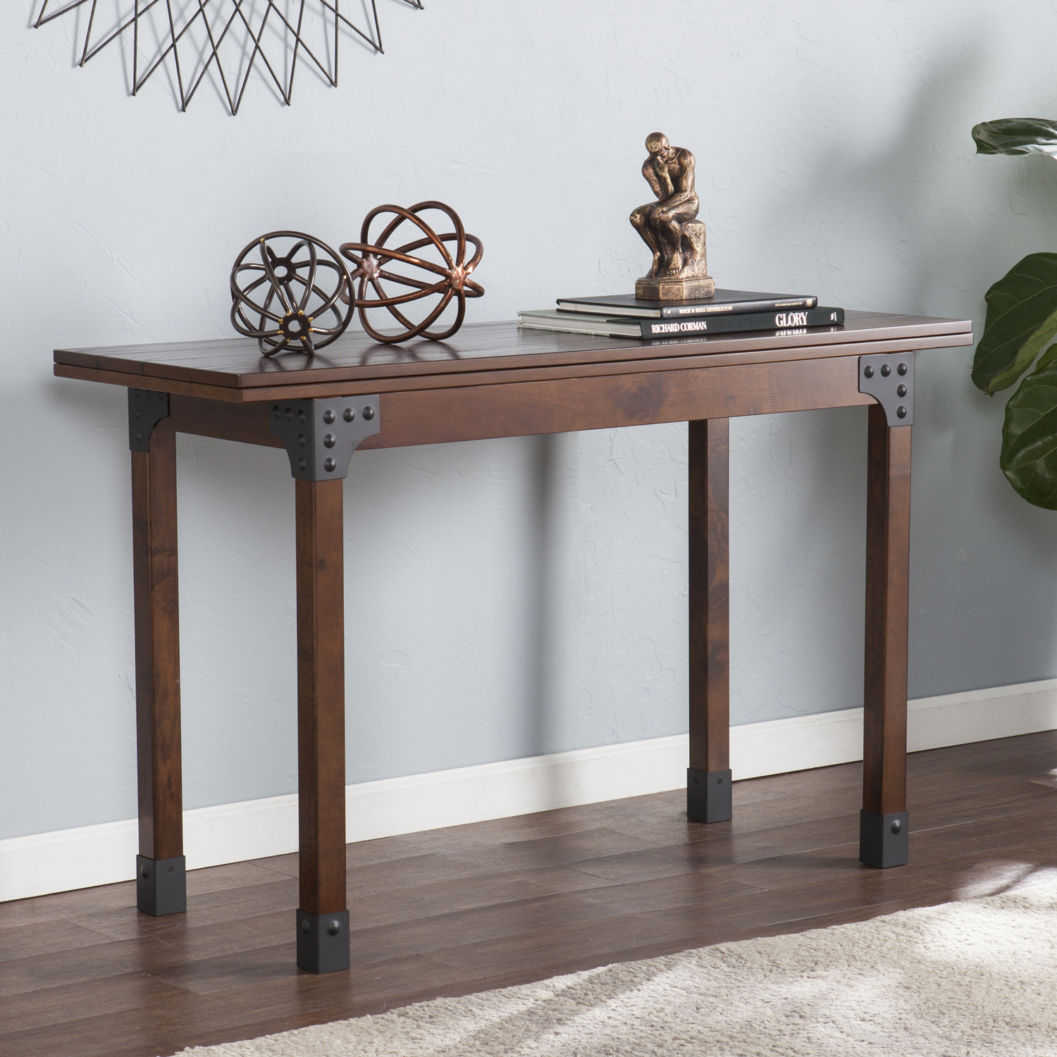 Deveron Flip Top Convertible Console To Dining Table Southern - Convertible sofa table to dining table