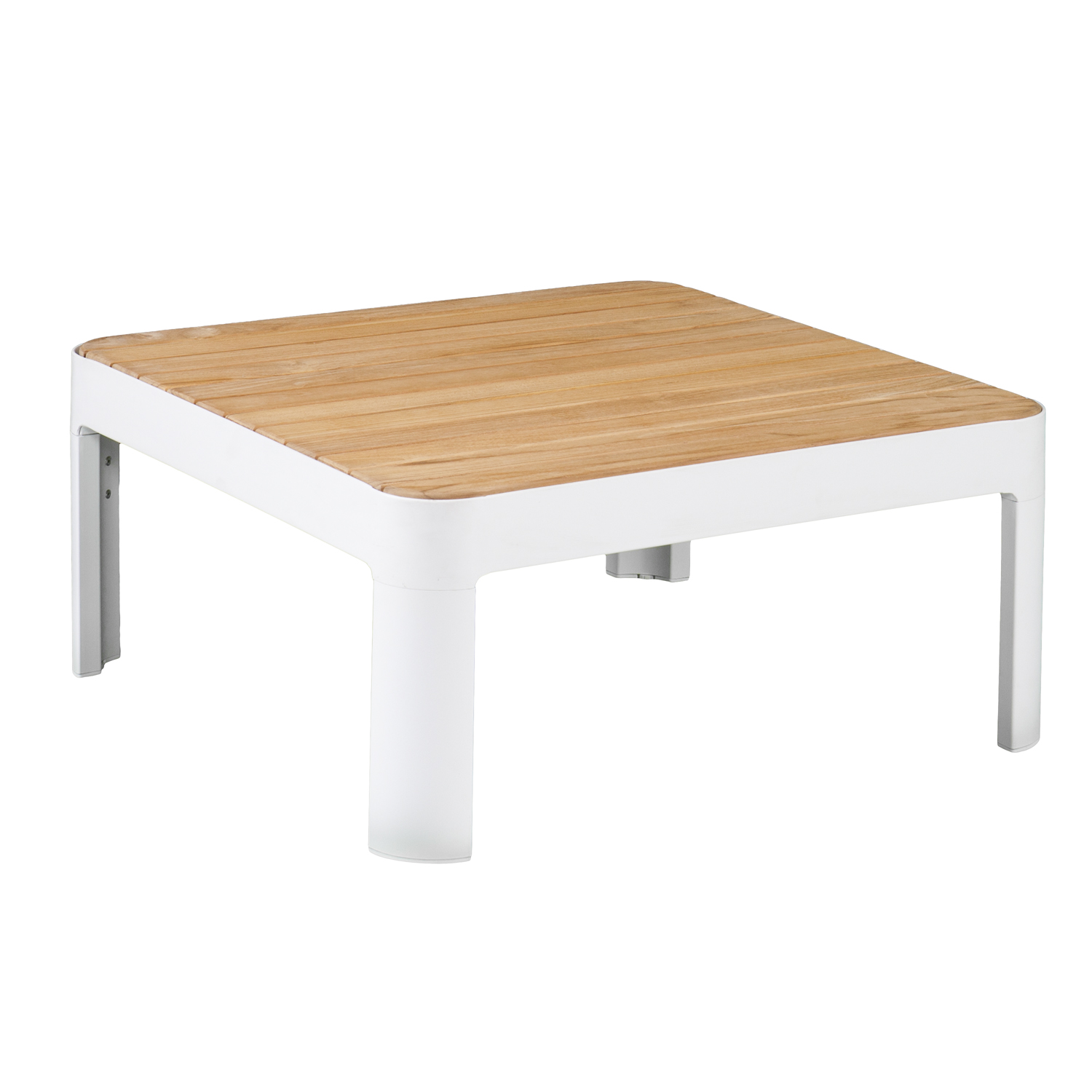 cavalla aluminum teak outdoor square cocktail table southern