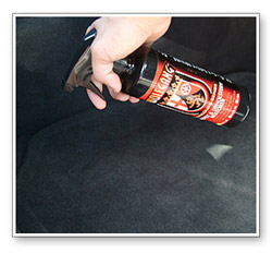 Wolfgang Carpet & Upholstery Cleaner removes food, make-up, grease, oil, fruit juice, pet stains, and more from fabric seats and carpet.