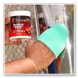 Use a finger pocket or foam applicator to