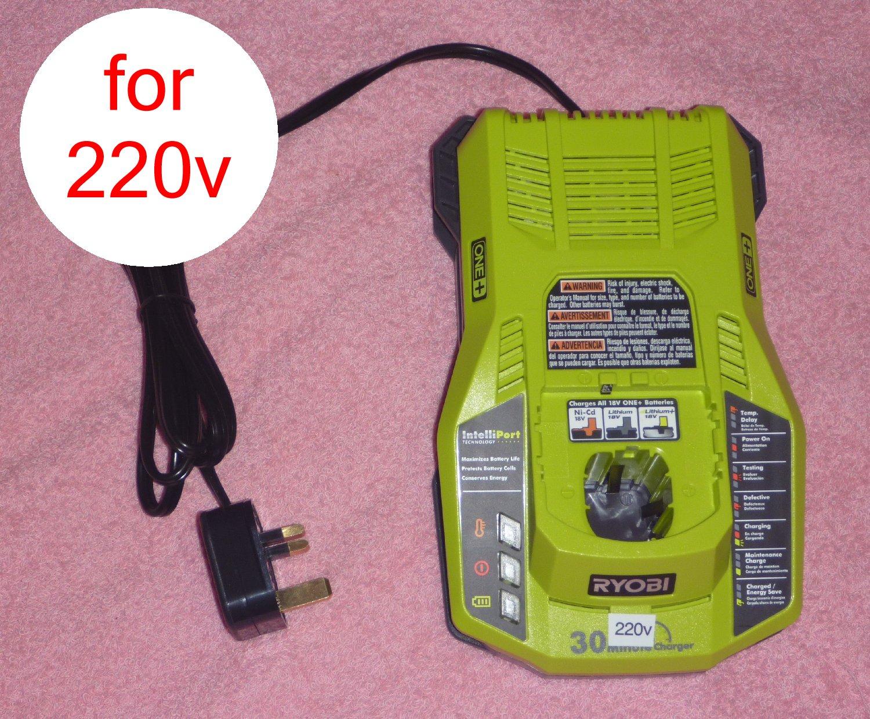 Ryobi One+ P117 18v Dual Chemistry Charger 220v 240v UK 3